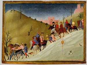 The Journey of the Magi (1435), by Sassetta