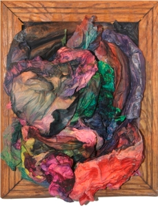 "Maya Freelon Asante, ""Bloom Where You're Planted"", condensed tissue paper sculpture, 17""x13"""