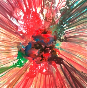 "Maya Freelon Asante, ""Spectra"", spinning tissue paper monoprint (SOLD)"