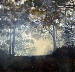 "William Mackinnon, LOST, acrylic, and enamel on canvas, 55""x47"""