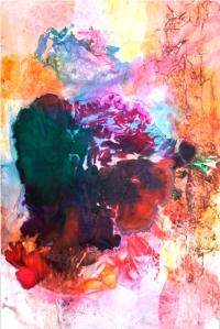 "Maya Freelon Asante, Boom, 53""x35"", tissue ink monoprint"