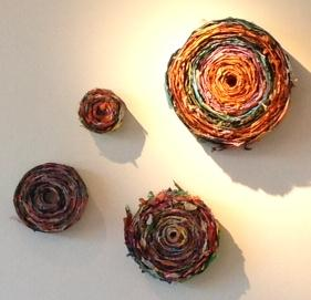 Bound, tissue paper spirals, dimensions variable