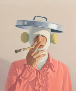 """Vonn Sumner, """"Parlance,"""" 2013, oil on panel, 24 x 20 inches"""