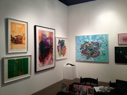 Morton Fine Art at ArtHamptons 2012, Booth shot of MAYA FREELON ASANTE and JULIA FERNANDEZ POL