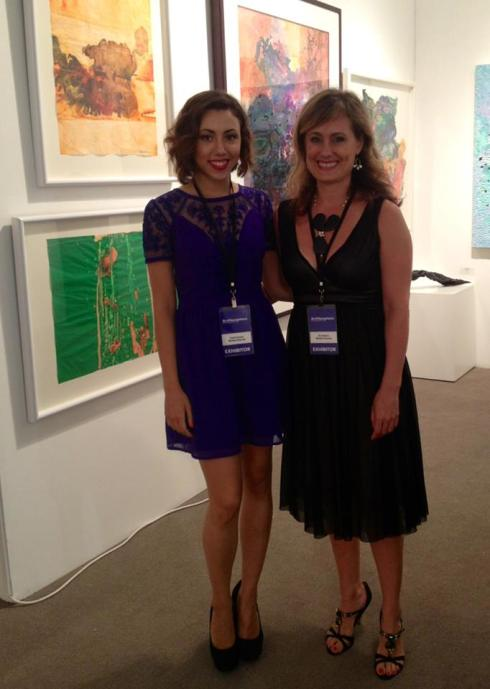 Sophia Guerci and Amy Morton at ArtHamptons 2013