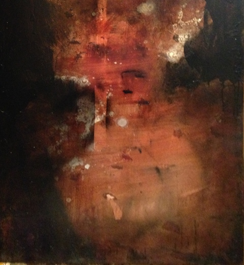 "Spirit Photo #4, oil and ink on canvas, 48""x30"""