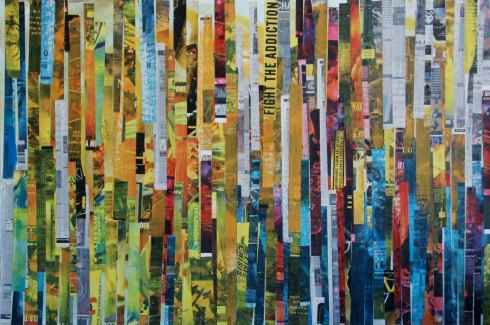 "GA Gardner, PPS 100, 2010, Mixed media on wood, 24""x36"", Courtesy of the artist, and Morton Fine Art, Washington,  D.C."