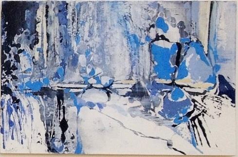 "ANDREI PETROV, Arctic Retreat, 9""x13.5"", oil on panel"