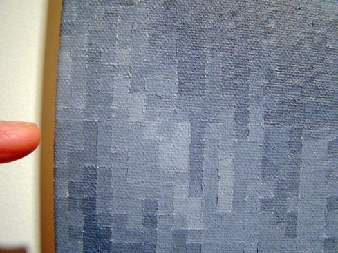 ETHAN DIEHL's meticulous gray scale grids on canvas