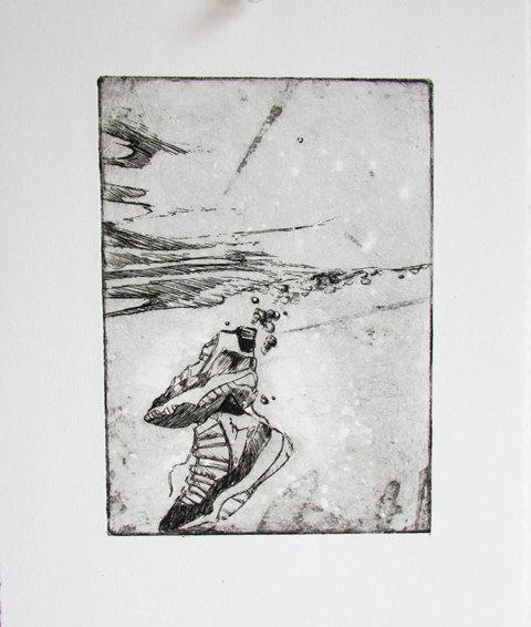 "Charles Williams, Concord, 9""x6"", etching"