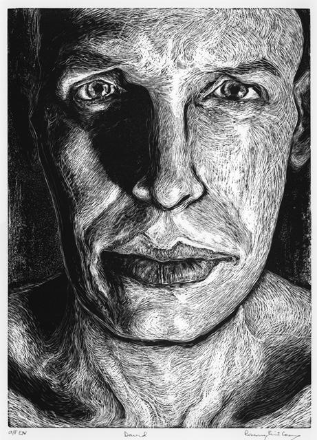 "Rosemary Feit Covey, ""David"", wood engraving"