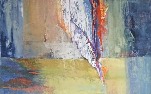 """Cappadocian Field Trip"" and other abstract oil paintings by Andrei Petrov evoke erosion. (Andrei Petrov/Courtesy of Morton Fine Art)"