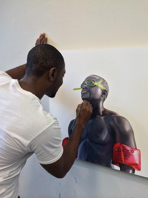 "Charles Williams painting ""Swim"""