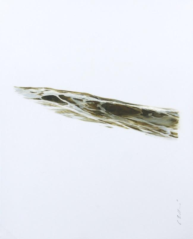 "Charles Williams, Day 41 Study, 10""x8"", oil on mylar"