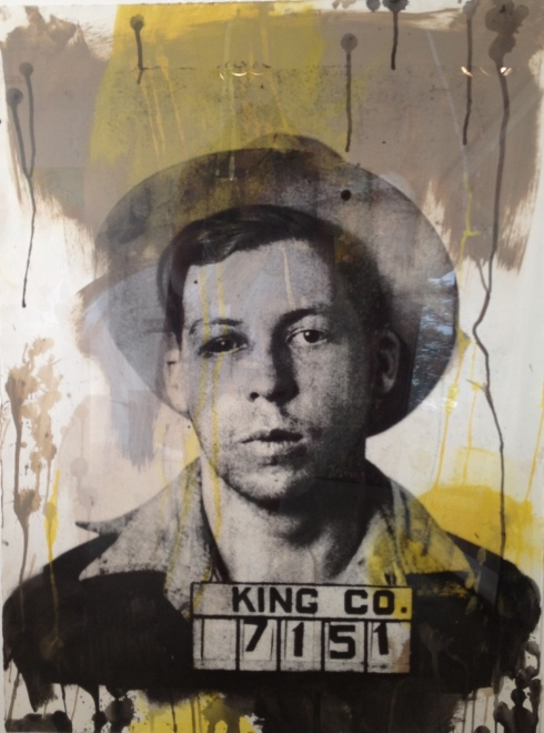 "Billy Colbert. King County, 2009 mixed media on paper. 29""x22"""