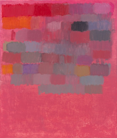 """VONN SUMNER, Palette 1, 2015, 33""""x28"""", oil on jutte"""