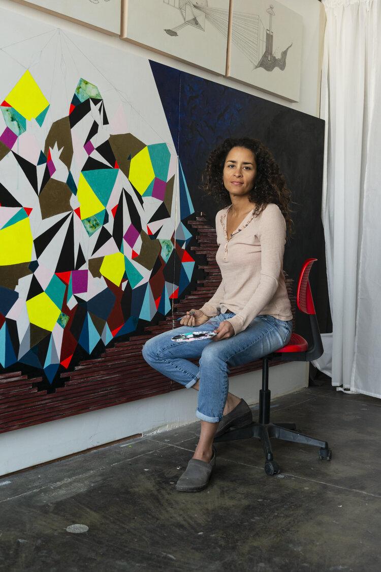 Adia Millet in her Oakland Studio
