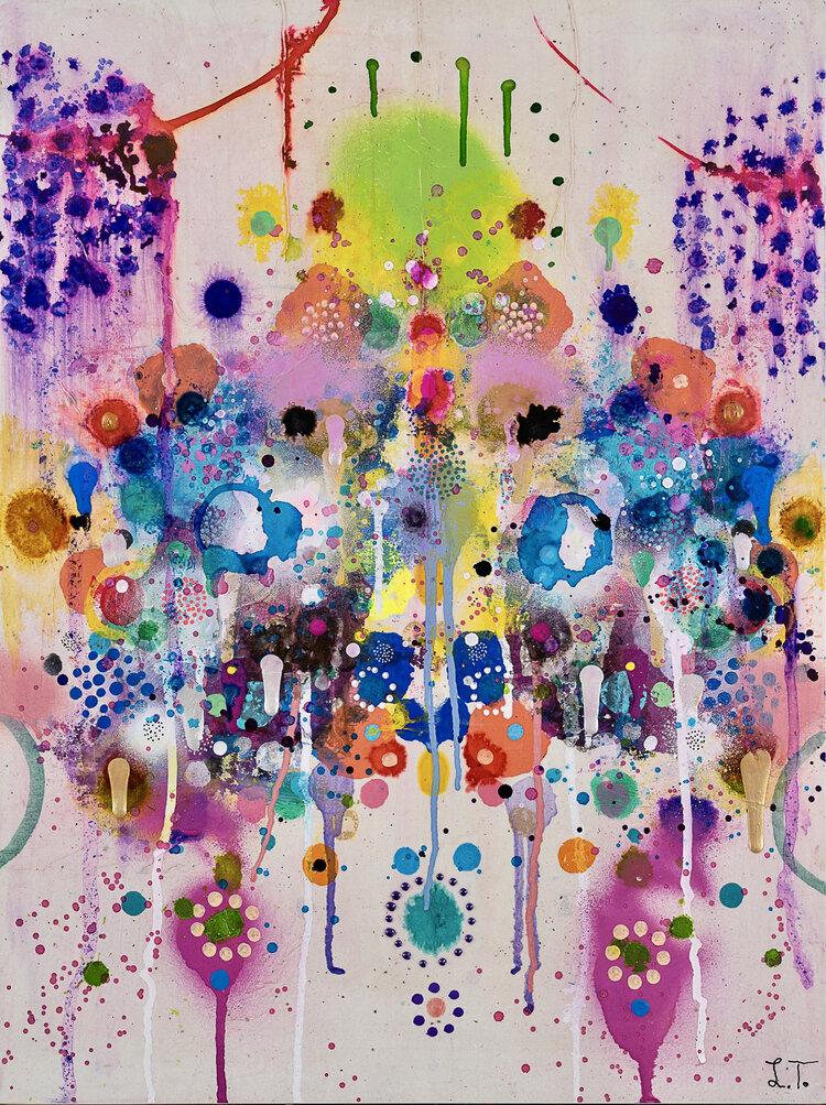 Liz Tran, Mirror 32 (2020), 24 x 18 in, Mixed media on panel, Courtesy of the artist and Morton Fine Art