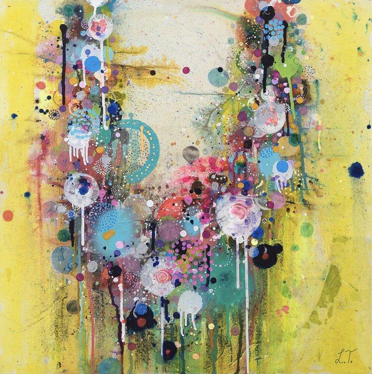 Liz Tran, Ornament 15 (2016), 24 x 24 in, Mixed media on panel, Courtesy of the artist and Morton Fine Art