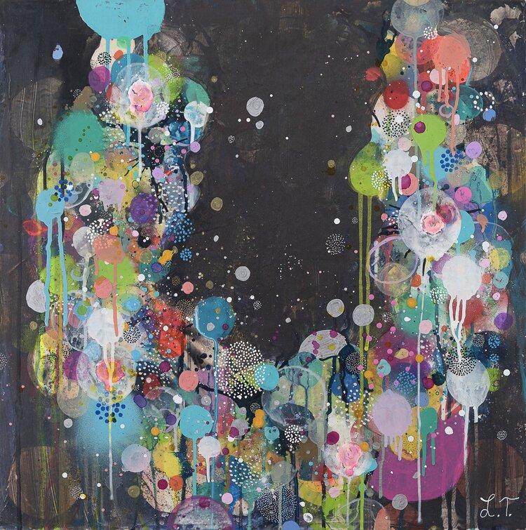 Liz Tran, Ornament 7 (2016), 24 x 24 in, Mixed media on panel, Courtesy of the artist and Morton Fine Art
