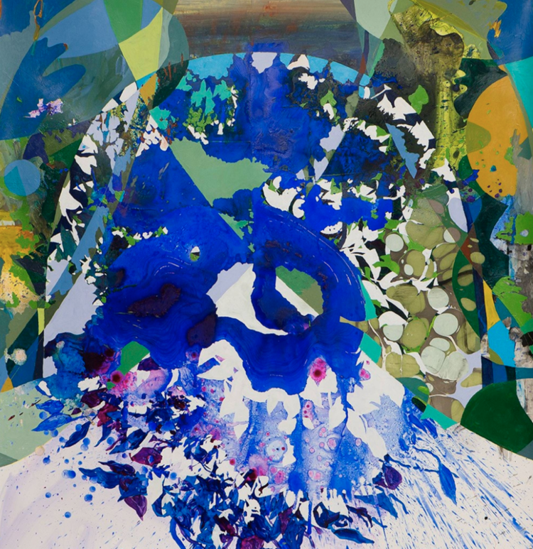 Arch 3, 2020, Acrylic and sumi ink on paper, 56 x 56 in, Image courtesy of Morton Fine Art